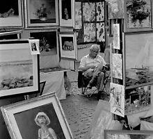 Via Margutta painters, Rome, Italy by Mauro Scacco
