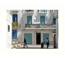 A day in Tunis Art Print