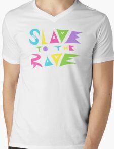 Slave to the Rave Mens V-Neck T-Shirt