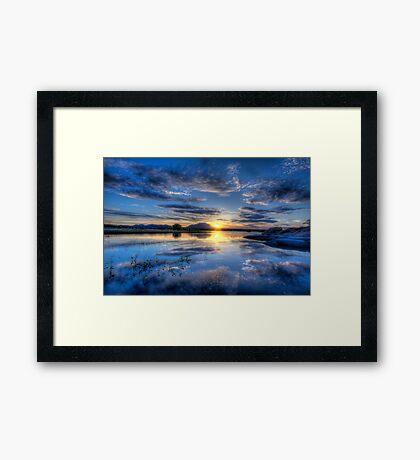 Willow lake Blue Framed Print
