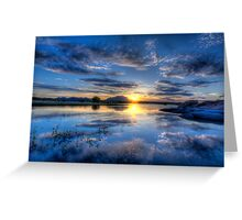 Willow lake Blue Greeting Card