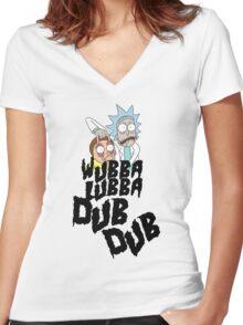 Wubba Lubba Dub Dub Women's Fitted V-Neck T-Shirt