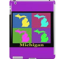 Colorful Michigan State Pop Art Map iPad Case/Skin