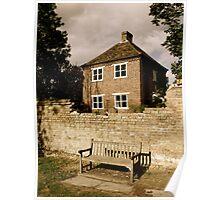 lonesome bench at Harlsford, Cambridgeshire Poster