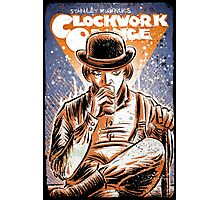 A Clockwork Orange Art Stanley Kubrick Malcolm McDowell Patrick Magee Michael Bates joe badon movie sci fi science fiction Photographic Print