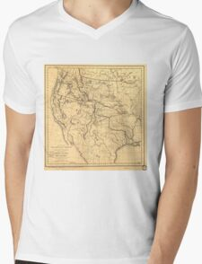Map of the Trans-Mississippi Between 1807 and 1843 Mens V-Neck T-Shirt