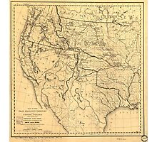 Map of the Trans-Mississippi Between 1807 and 1843 Photographic Print