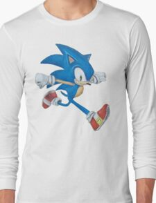 Sonic the Hedgehog Prismacolor Drawing Long Sleeve T-Shirt