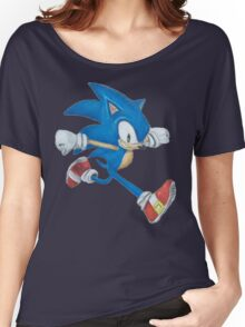 Sonic the Hedgehog Prismacolor Drawing Women's Relaxed Fit T-Shirt