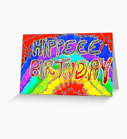 Hippee Birthday funny birthday card Greeting Card