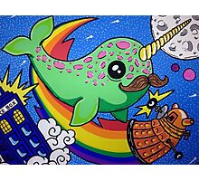 Narwhal in Space Photographic Print