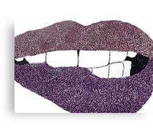 Glitter Lips  Canvas Print