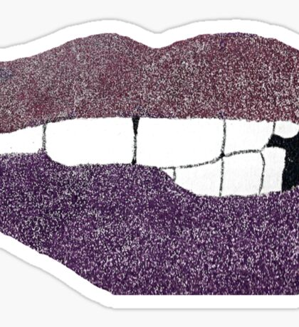 Glitter Lips  Sticker