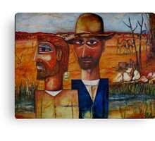 BOURKE AND WILLS AT COOPERS CREEK Canvas Print