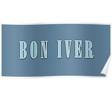 BON IVER - Logo  Poster