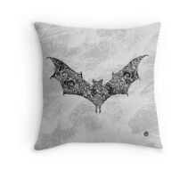 Swirly Bat Throw Pillow