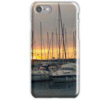 Sunset with Sailboats Horizontal iPhone Case/Skin