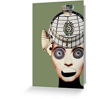 star eyes green Greeting Card