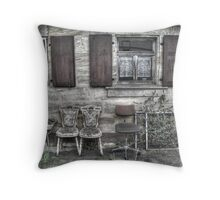 lapsed house-front Throw Pillow