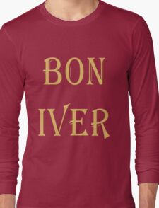 BON IVER Logo (SALE!) Long Sleeve T-Shirt