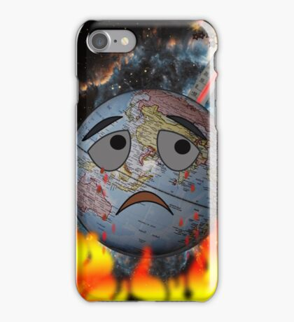 Earth and global warming iPhone Case/Skin