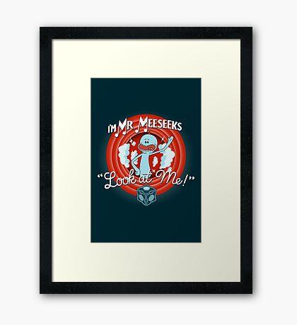 Merrie Mr. Meeseeks - shirt Framed Print