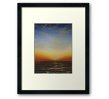 Sunsetting over the Sea Framed Print