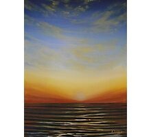 Sunsetting over the Sea Photographic Print