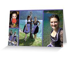 Bavarian Girls  Greeting Card