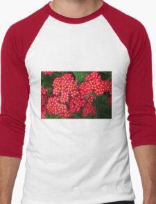 red flower Men's Baseball ¾ T-Shirt