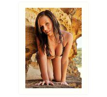 2011 swimsuit calendar - lauren 1 Art Print