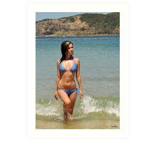 2011 swimsuit calendar - lauren 2 Art Print