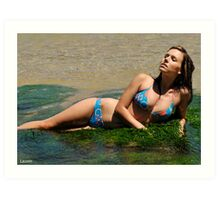 2011 swimsuit calendar - lauren 3 Art Print