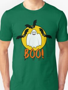 Smiling Ghost and Bats Unisex T-Shirt