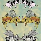 Pigs on a wing by SuburbanBirdDesigns By Kanika Mathur
