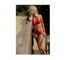 2011 swimsuit calendar - kristy Art Print