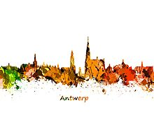 Antwerp Skyline Photographic Print
