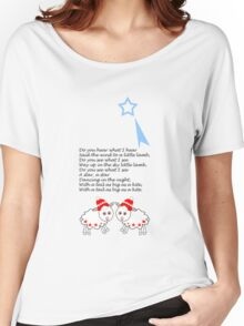 Cute tee with lambs and Xmas song Women's Relaxed Fit T-Shirt