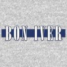 BON IVER - Stripe Logo  by Repave Repave