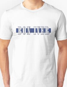 BON IVER - Stripe Logo  Unisex T-Shirt