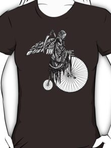 Death Rides an Old Timey Bike T-Shirt