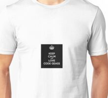 Code Geass - Keep Calm And Love Code Geass Unisex T-Shirt