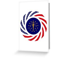 Indiana Murican Patriot Flag Series Greeting Card