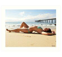 2011 swimsuit calendar - stacey 4 Art Print