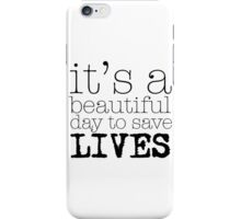 Beautiful day (white) iPhone Case/Skin