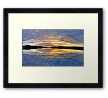 Circular Sunrise - Narrabeen Lakes, Sydney - The HDR Experience Framed Print