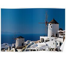 Windmills Of Oia Poster