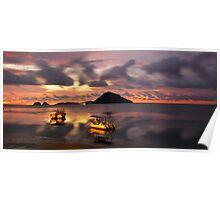 Calm evening on sea, Borneo  Poster