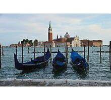 Boats in Grand Canal in Venice, Italy Photographic Print