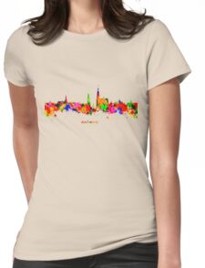 Antwerp Watercolour Skyline Womens Fitted T-Shirt